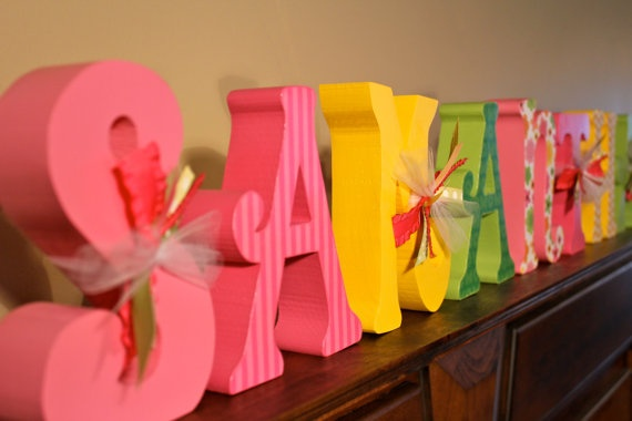 Name BlocksNames Blocks, Letters Decor, Child Rooms, Rooms Ideas, Name Blocks, Signs Wal Art
