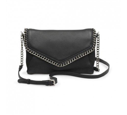 Tamara Crossbody Bag in black nubuck leather // Markberg