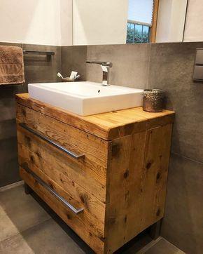 Die besten 25+ Altholz waschtisch Ideen auf Pinterest | Altholz ... | {Waschtisch altholz 24}