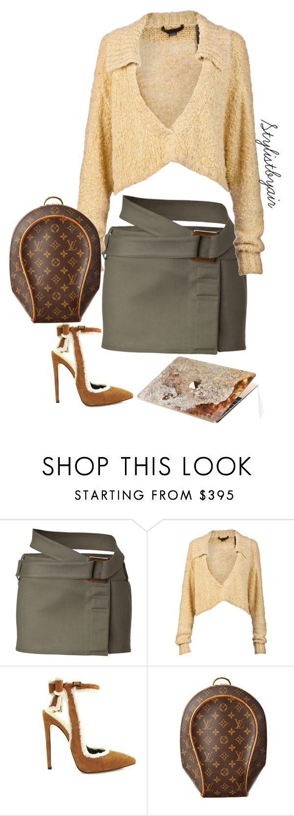 """""""Untitled #6647"""" by stylistbyair ❤ liked on Polyvore featuring Paco Rabanne, Alexander Wang, Louis Vuitton and ROXXLYN"""