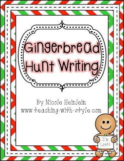 FREE Gingerbread Hunt Writing: K-2nd