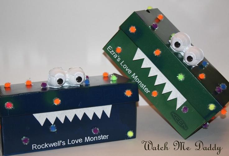 Monster Valentines Box Velentines Day St Patricks