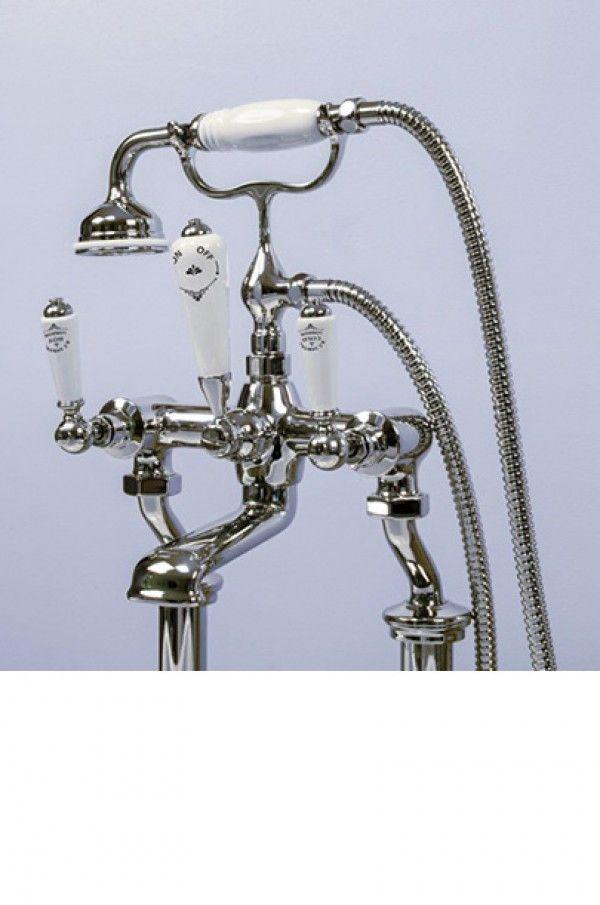 Silverdale Berkeley bath shower mixer tap in chrome   Bath Taps   Taps