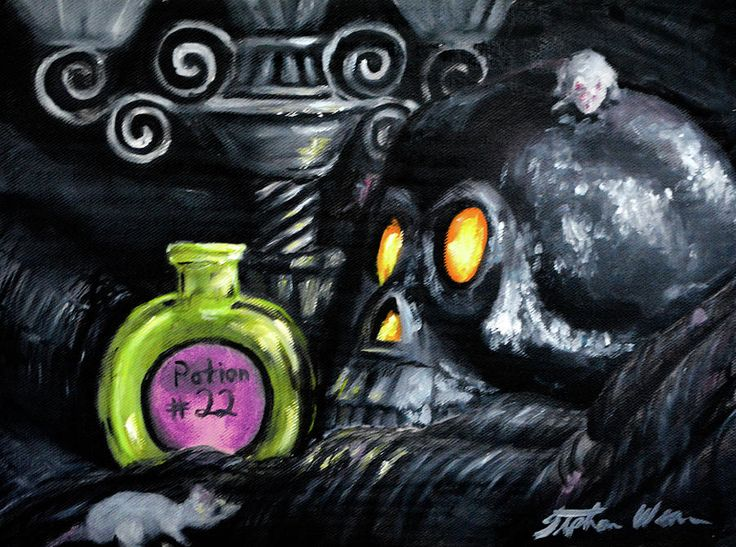 """Happy Halloween"" 9 x 12"" Oil painting on canvas by Stephanie Weaver is on display at the Huntsville Art League Gallery until November 1st and is available for $125. If you'd like to purchase the original, contact me at stephanie@grinninglikeanidiot.com."