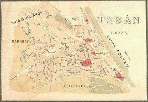 1887. A Tabán térképen.