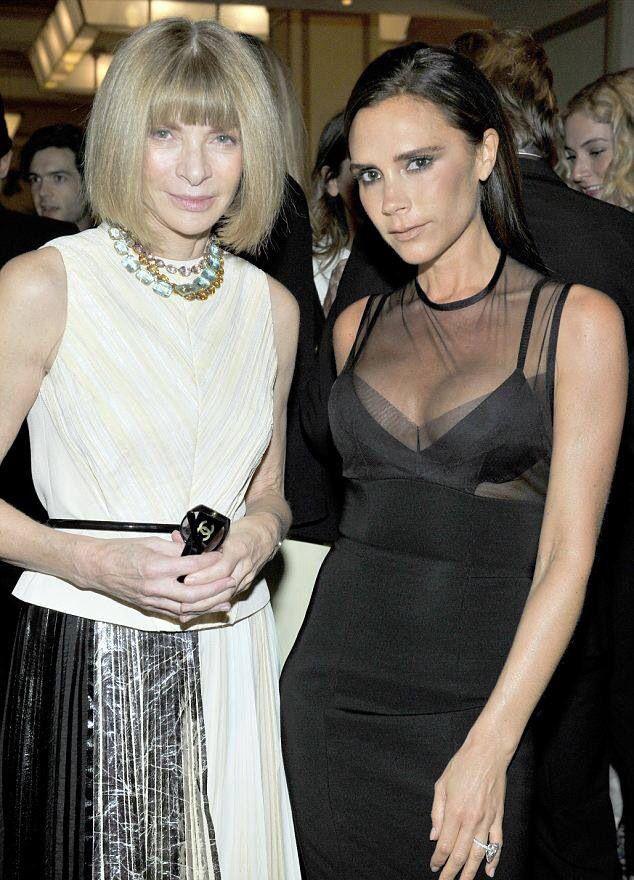 Anna Wintour & Victoria Beckham