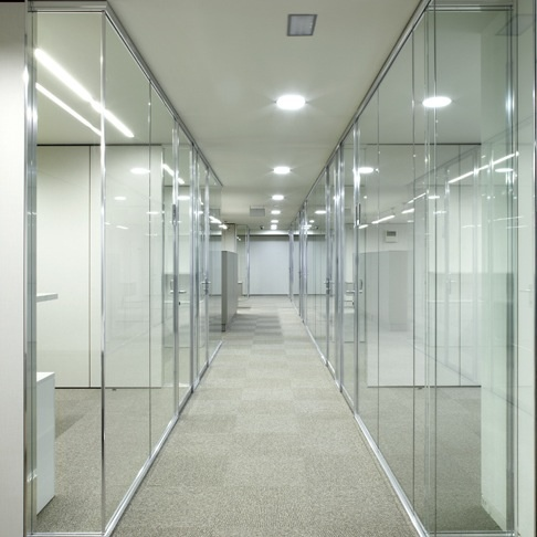 Mampara Estel proyecto Cuatrecasas Madrid. Arquitecto GCA