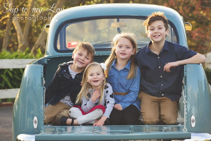Family in holden FX ute family photography - Skip to my Lou Photography - Melbourne