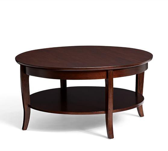 "$299_36"" diam x 18"" h_Chloe Round Coffee Table | Pottery Barn"