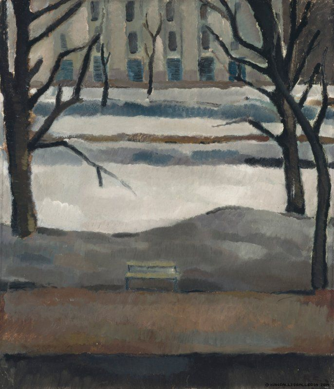 blastedheath:  Ragnar Ekelund (Finnish, 1892-1960), Esplanade, 1917 . Oil on plywood.