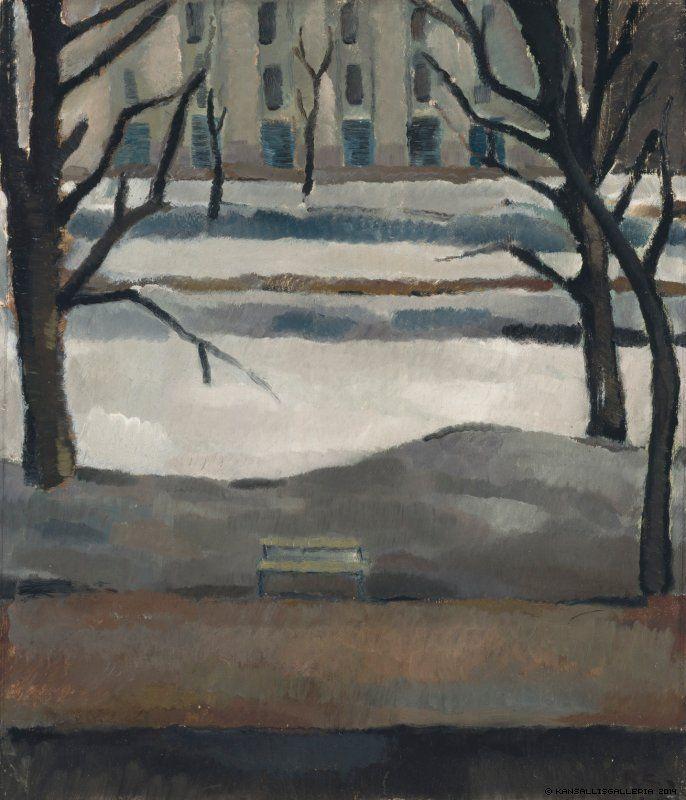 blastedheath:  Ragnar Ekelund (Finnish, 1892-1960), Esplanade, 1917 . Oil on plywood.
