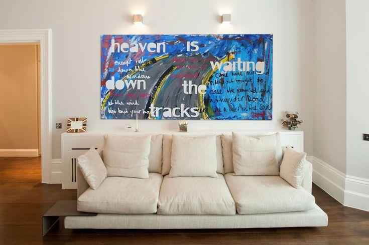 Schilderij met songtekst Heaven is Waiting