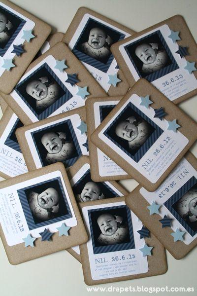Inspirate con esta bonita tarjeta para la celebración de bautizo de tu hijo. #bautizo #invitación