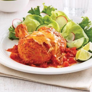 Cuisses de poulet à la salsa - Soupers de semaine - Recettes 5-15 - Recettes express 5/15 - Pratico Pratique