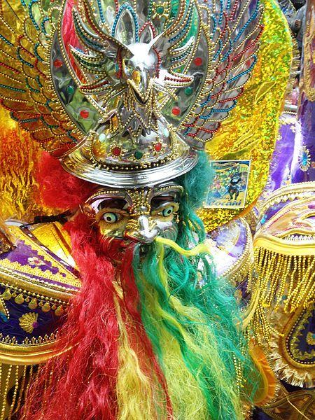 Mascara de la morenada. Carbaval de Oruro.