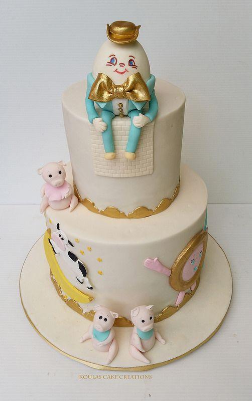 Nursery Rhyme Baby Shower Cake   by Koulas Cake Creations