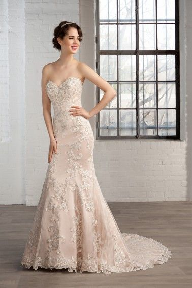 Fabulous Alyce Jean De Lys Strapless Gown with Ruffled Layered Skirt and Length