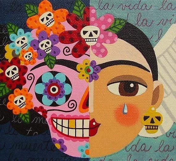 Frida Kahlo - Arte para Día de Muertos