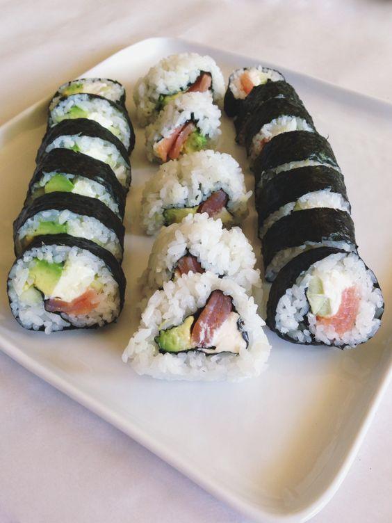 Smoked Salmon Philadelphia Rolls   a beginners guide to making sushi