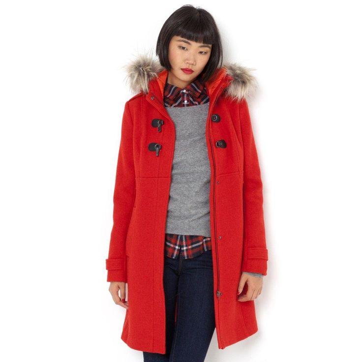 Duffle-coat long 50% laine R Essentiel prix Manteau Femme La Redoute 99.99 €