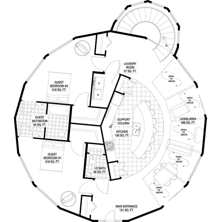 Deltec Homes  Floorplan Gallery | Round Floorplans | Custom Floorplans MY  FAVORITE: Chesapeake 3