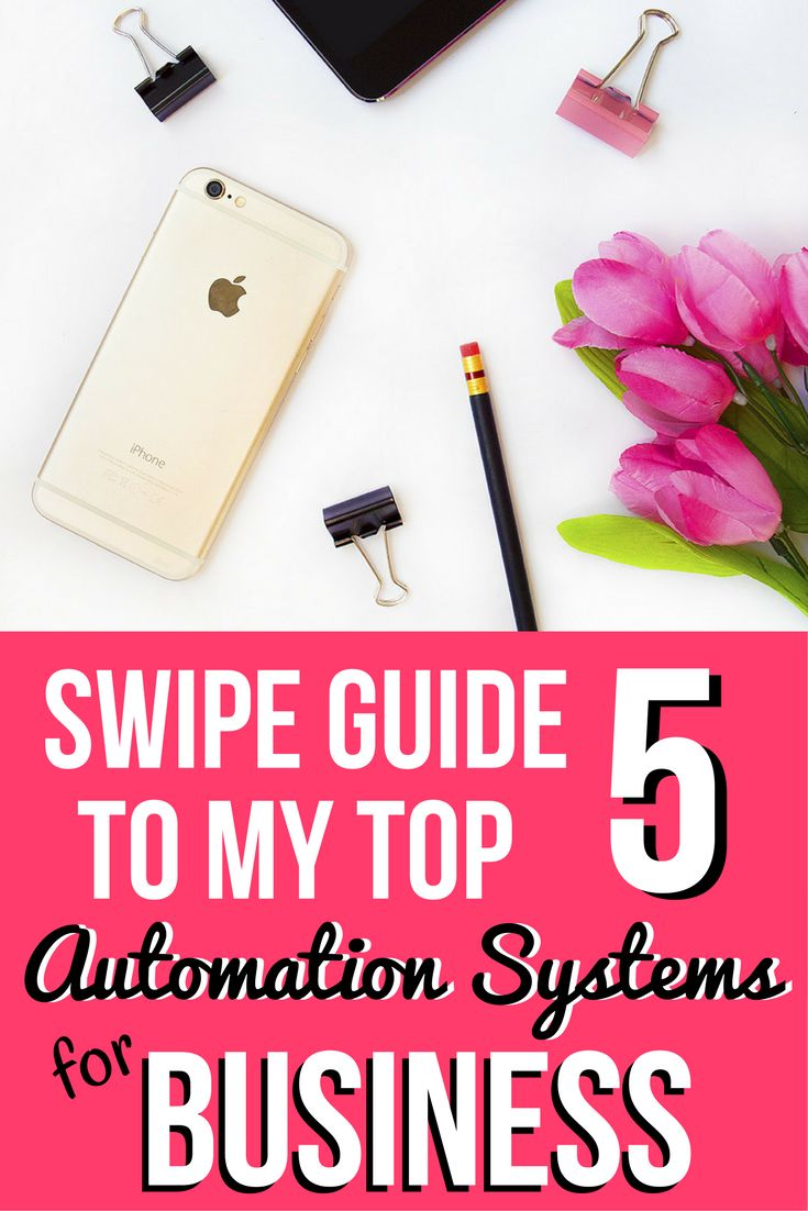 Swipe Guide to my Top 5 Automation Systems for Business
