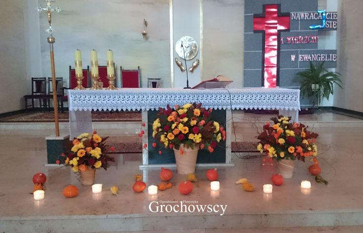 jesienna dekoracja kościoła dekoracje ślubny Człuchów #churchdecoration #ceremony #ceremonydecoration #autumwedding