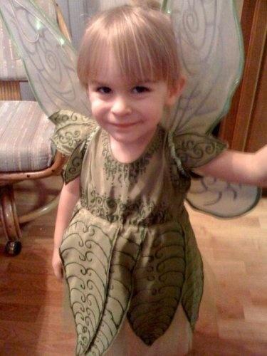 Tinkerbell costume.