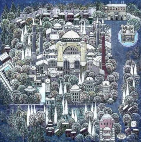 Aya Sofia Istanbul by Nusret Colpan