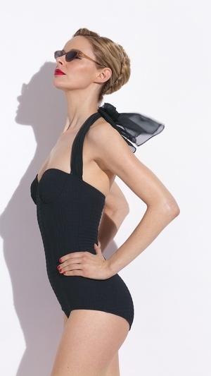 Marguerite Swimsuit by new luxury retro swimwear brand, Sweetpea Swimwear