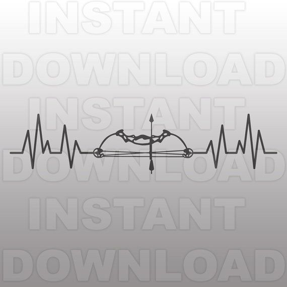 Bow Hunting Heartbeat Svg File Bow Hunting Svg File Deer