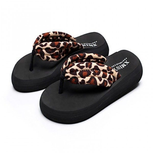 2015summer fashion Korean big size female pinch slippers anti slidding slope with thick bottom beach sandals Mid heels Price***NZ$26***