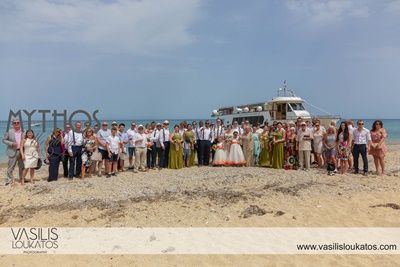 Boat trip after ceermony & before the reception - beautiful way to relax with their lovely friends & family #weddingphotos_beachwedding_boattrip