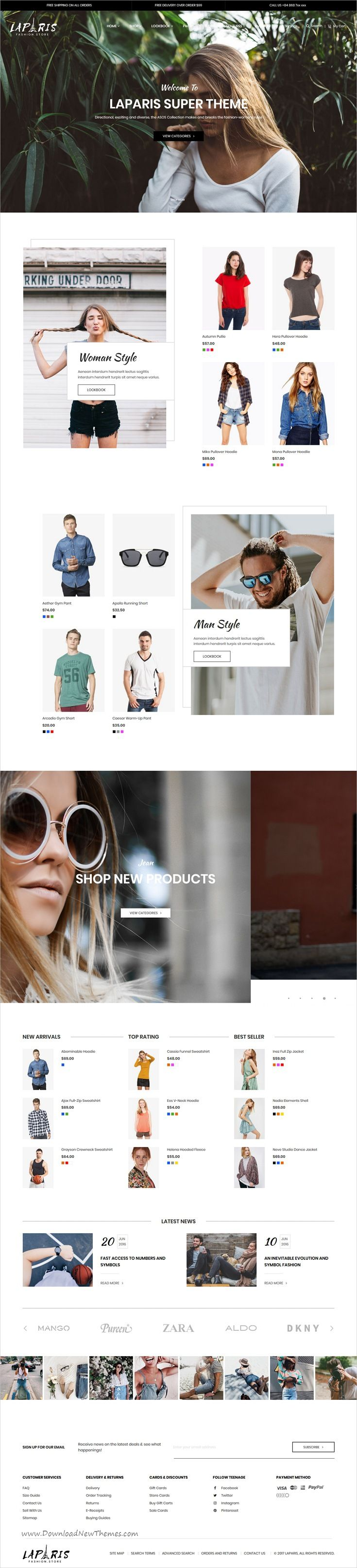 LaParis is clean, stylish and modern design responsive #Magento theme for #fashion store stunning #eCommerce website with 10+ niche homepage layouts download now..