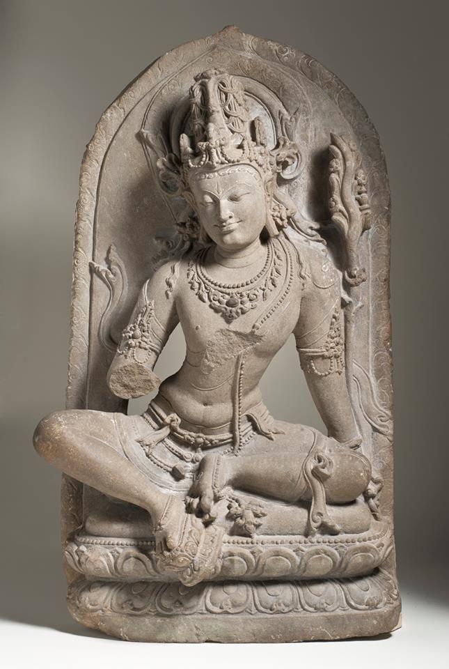 The Bodhisattva Maitreya India, Bihar, Gaya District, 11th century Sculpture Schist  Source: Los Angeles County Museum of Art