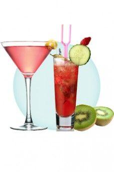 cocktail rhum - liqueur de litchi - jus d'ananas (remplacer le jus d'ananas par un jus de pomme)