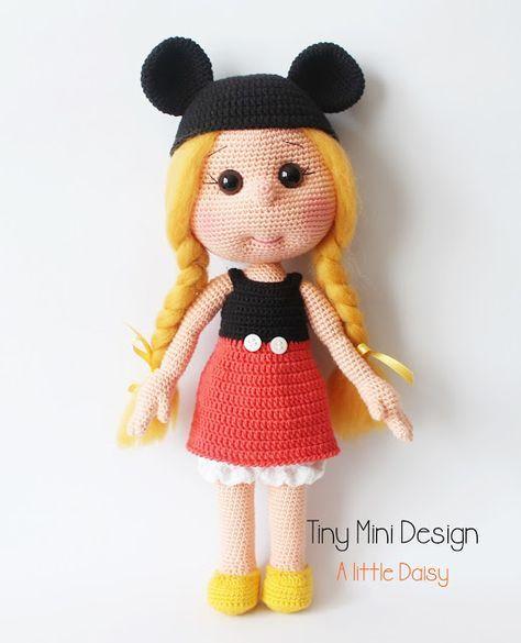 Amigurumi Bayan Ayı Yapılışı-Amigurumi Miss Bear Free Pattern - Tiny Mini Design