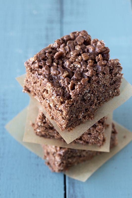 Nutella Peanut Butter Rice Crispy Treats