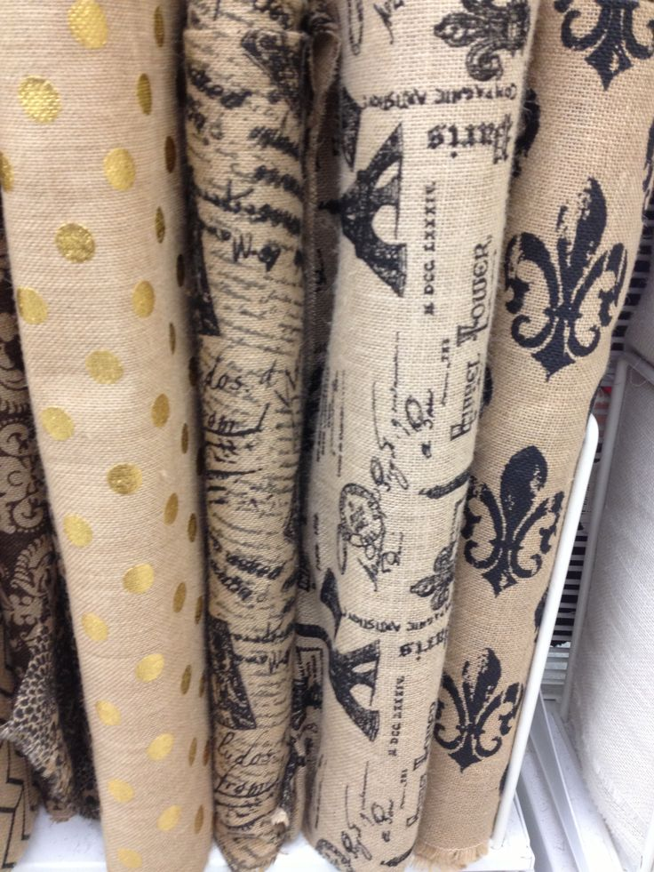 134 best burlap linen and jute oh my images on for Burlap fabric projects