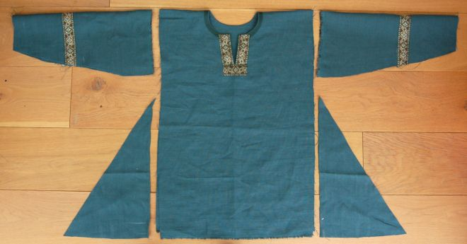 Tunic cut out ready to sew.