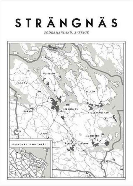 Map of Strängnäs- poster via Tre små rum. Click on the image to see more!