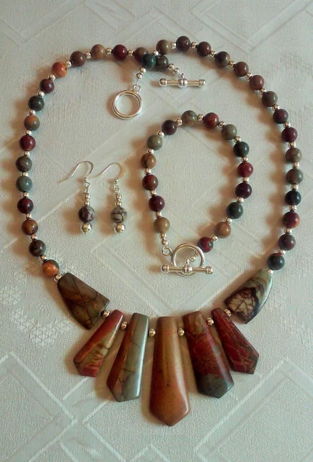 Picture Jasper  - Jewelry creation by Chris Donofrio