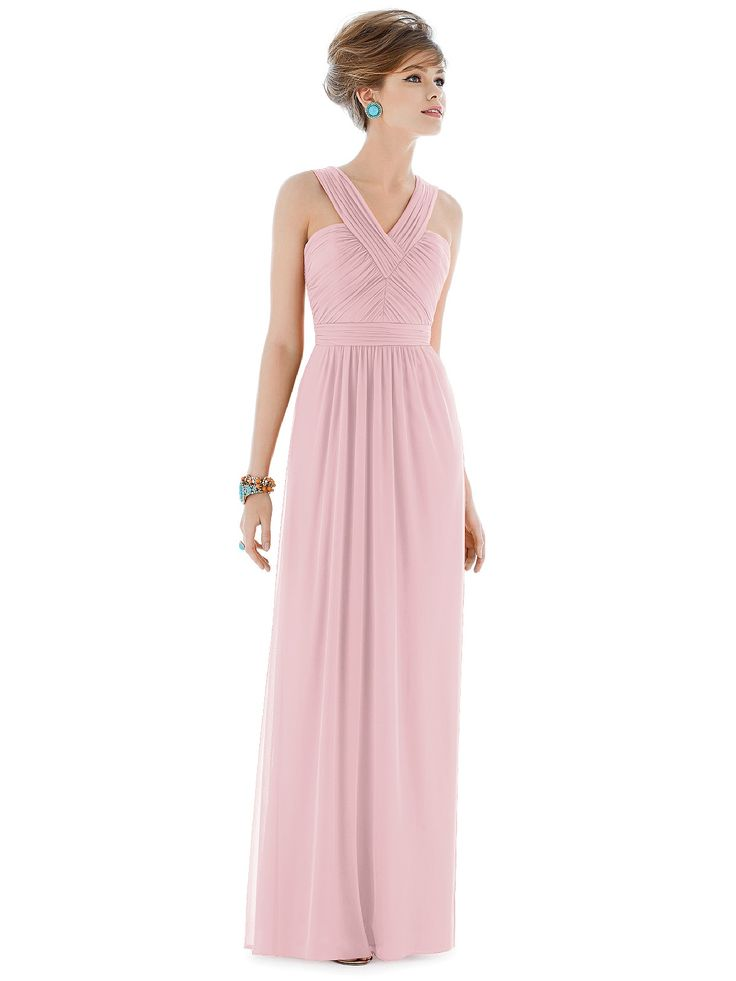 Shop Alfred Sung Bridesmaid Dress - D678 in Chiffon Knit at Weddington Way. Find the perfect made-to-order bridesmaid dresses for your bridal party in your favorite color, style and fabric at Weddington Way.