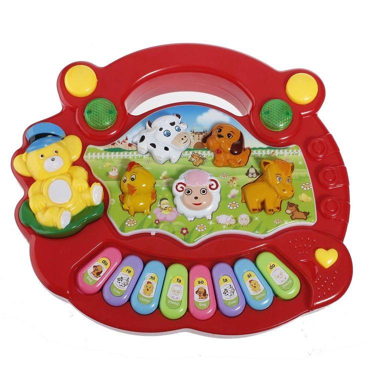 ANIMAL FARM PIANO MERAH - http://grosirmainananakku.com/animal-farm-piano-merah/ Animal Piano mengeluarkan aneka musik ceria, aneka suara binatang dan ada 8 tangga nada dasar. Sangat cocok untuk anak balita.  #ANIMALFARMPIANOMERAH