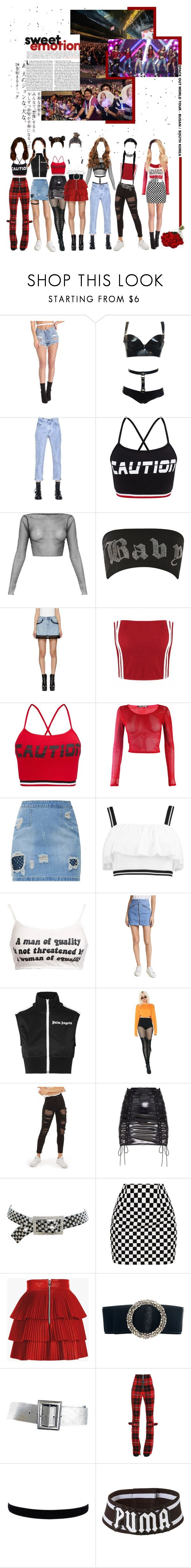 """«ROCKIT - SPACE OUT WORLD TOUR / BUSAN»"" by cw-entertainment ❤ liked on Polyvore featuring Diesel Black Gold, Jaded, Marc Jacobs, Boohoo, rag & bone/JEAN, Palm Angels, Poster Grl, Topshop, Kenneth Jay Lane and Balmain"