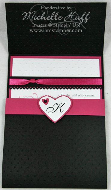 Invite flap wedding stampin up invitation