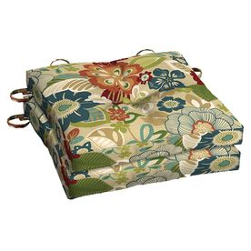 Garden Treasures Bloomery Floral Seat Pad For Bistro Chair Af11464b