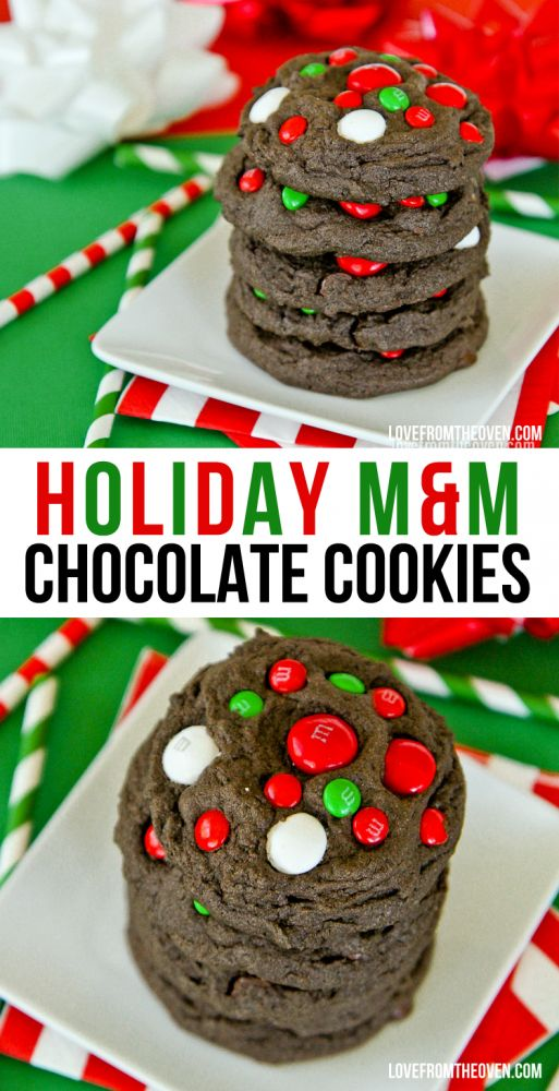 Chocolate MM Cookies. Minty and colorful MM candies make these cookies perfect…
