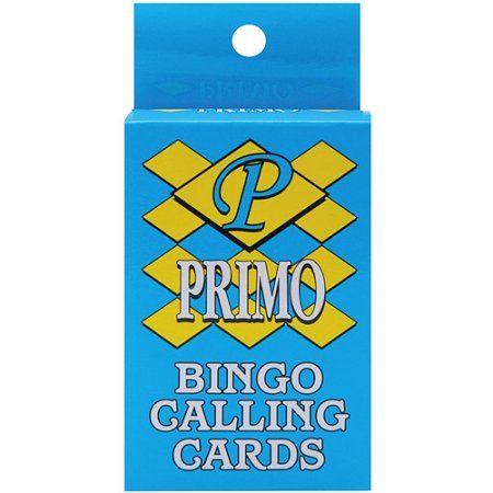 Bingo Calling Cards, 75-Pack, Multicolor