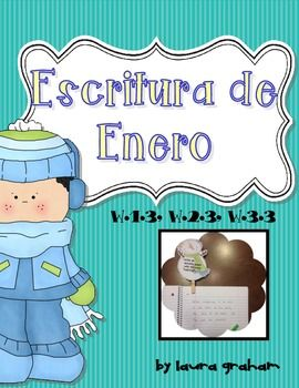 Journal Prompts for January in Spanish somewhat advanced for first grade, maybe for later in the year.